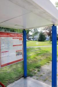 Bus stop 100 metres
